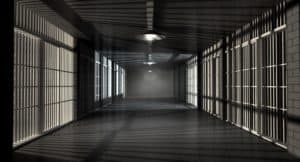 A hallway of in a prison