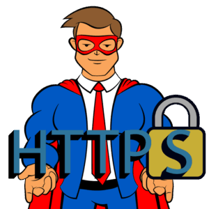 The Blog Fixer mascot holding a logo for secure HTTPS